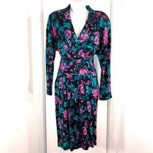 Vintage Floral Dawn Joy Dress, Size 9/10